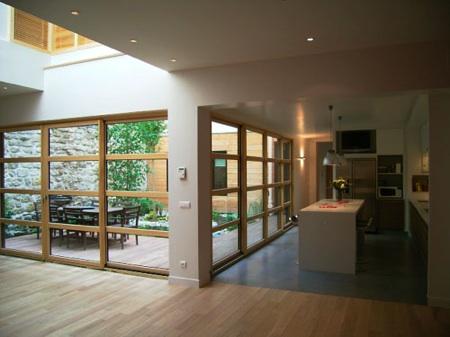 D co maison interieur bois for Exemple deco maison