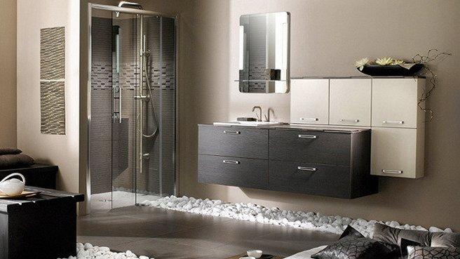 déco salle de bain avec galets