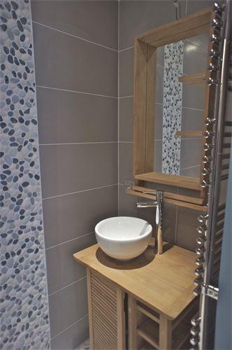 D co salle de bain avec galets for Applique salle de bain galet