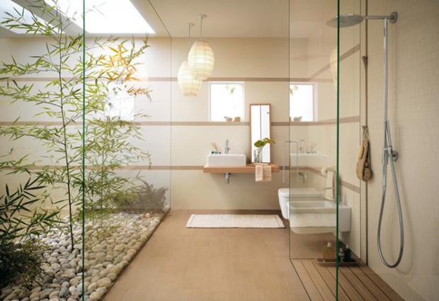 Photo déco salle de bain beige