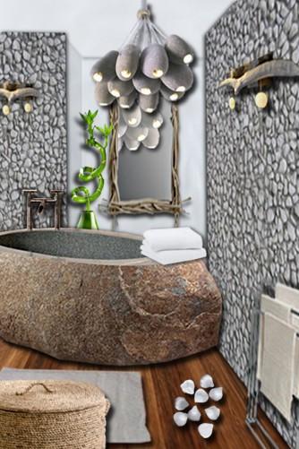 salle de bain bois et galet dedans deco salle de bain galet beautiful salle de