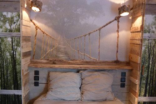 D co salle de bain bois flott for Chambre en bois flotte