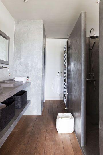 D co salle de bain en longueur for Salle de bain idee amenagement