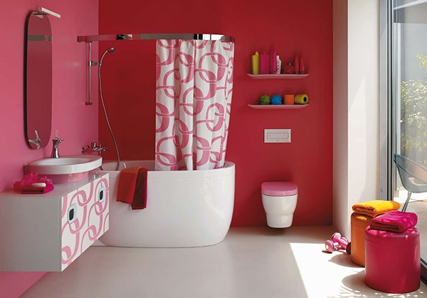D co salle de bain fushia for Decoration maison fushia