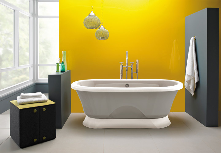 Stunning Salle De Bain Jaune Et Bois Images - Awesome Interior Home ...