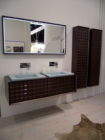d co salle de bain marron et blanc. Black Bedroom Furniture Sets. Home Design Ideas