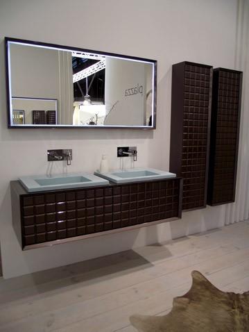 D co salle de bain marron et blanc - Salle de bain chocolat et blanc ...