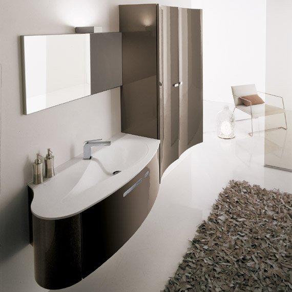 d233co salle de bain marron et blanc