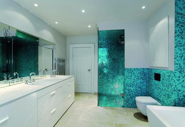 D co salle de bain mosaique for Mosaique ardoise salle de bain