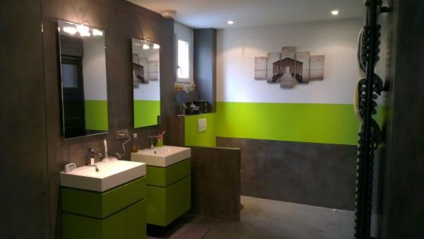 D co salle de bain noir et vert - Salle de bain vert et noir ...