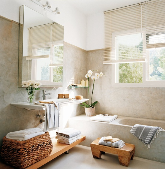 D co salle de bain simple for Idee deco salle de bain simple