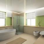 déco salle de bain vert et marron