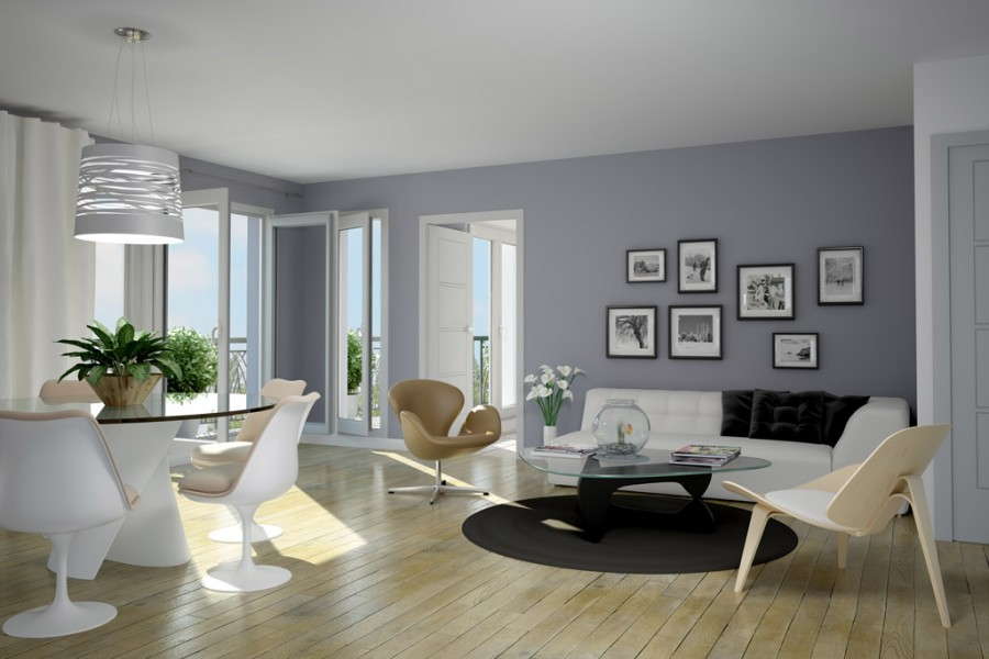 D coration appartement contemporain - Decoration originale pas cher ...