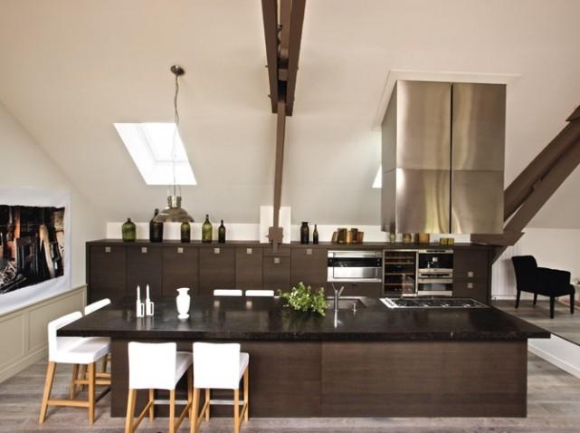 D coration loft grange for Modele maison loft