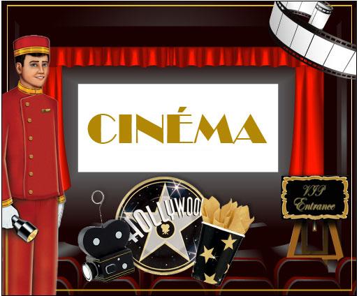 D coration maison th me cin ma for Table theme cinema