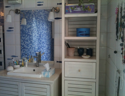 univers décoration salle de bain bord de mer