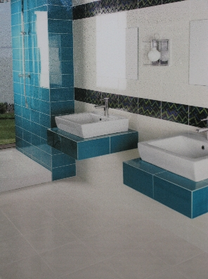 Awesome Idee Deco Salle De Bain Carrelage Bleu Contemporary ...