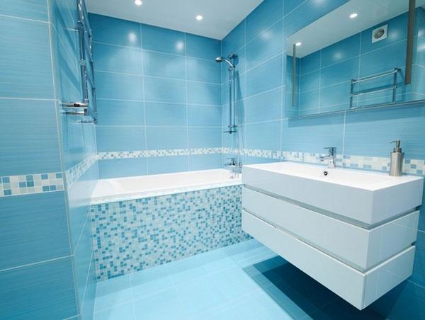 D coration salle de bain carrelage mural for Modele deco carrelage salle de bain