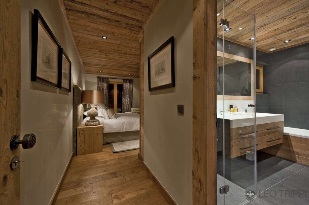 idée décoration salle de bain chalet - Photo Déco
