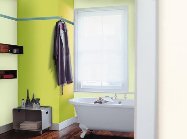 D coration salle de bain en peinture for Salle de bain peinture