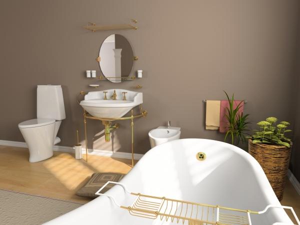 D coration salle de bain en peinture for Peinture acrylique salle de bain