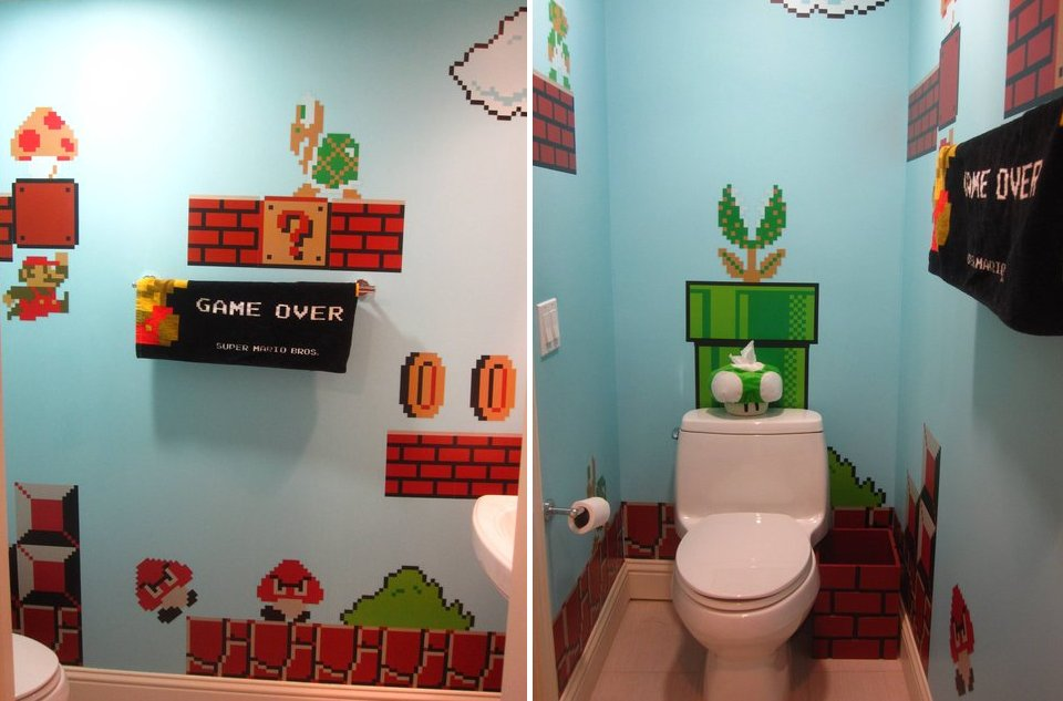 D co salle de bain geek for Decoration maison geek