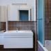 décoration salle de bain marron