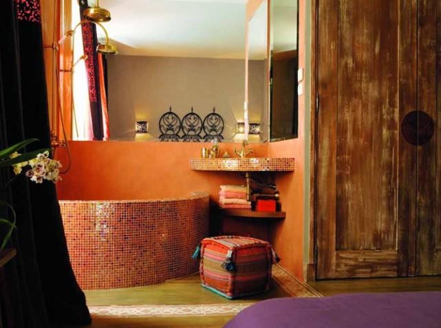 univers décoration salle de bain orientale - Photo Déco