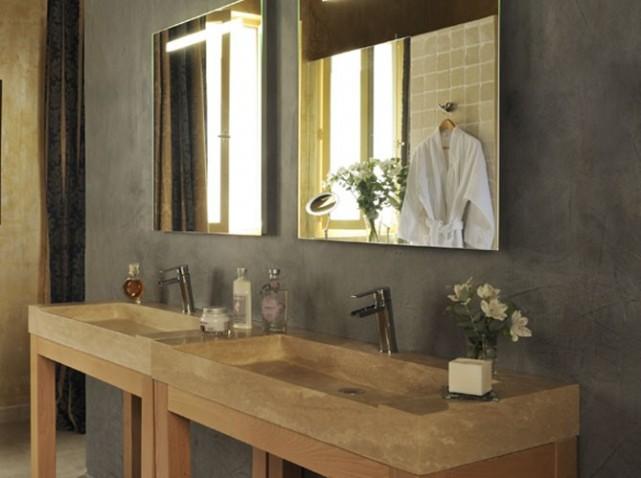 d coration salle de bain pierre. Black Bedroom Furniture Sets. Home Design Ideas