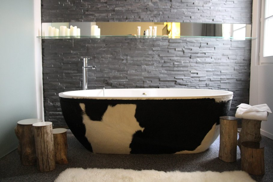 aménagement décoration salle de bain pierre - Salle De Bain Bois Et Pierre
