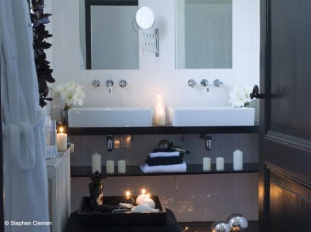 Photo décoration salle de bain romantique