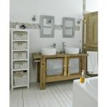 décoration salle de bain rustique