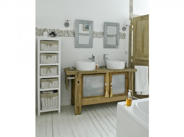 D coration salle de bain rustique for Deco salle de bain rustique