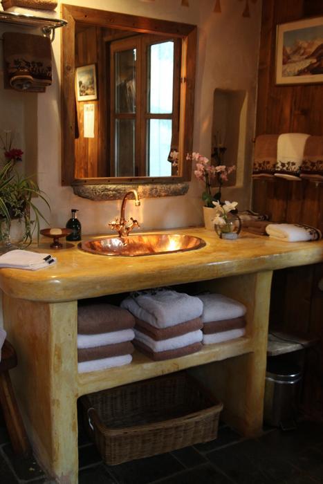 décoration salle de bain rustique - Photo Déco