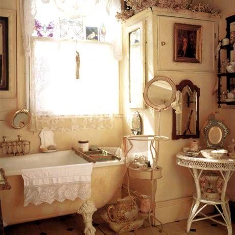 D coration salle de bain shabby chic for Salle de bain contemporaine chic