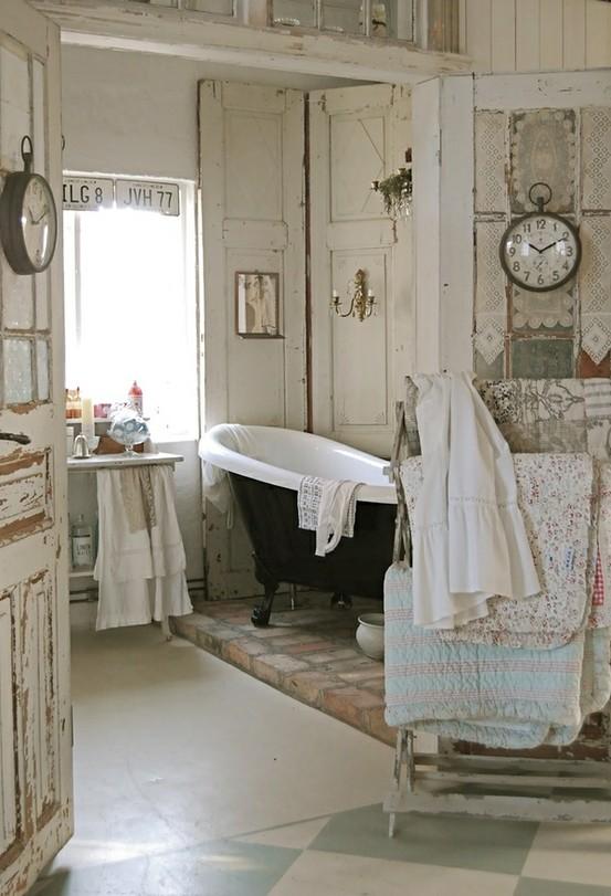 D coration salle de bain shabby chic - Organisation salle de bain ...