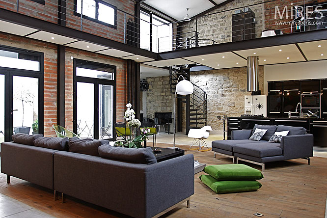 d coration style loft new yorkais. Black Bedroom Furniture Sets. Home Design Ideas