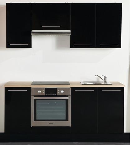cuisine city noir brico depot. Black Bedroom Furniture Sets. Home Design Ideas