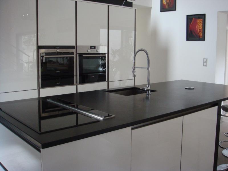 D coration pour veranda for Plan de travail marbre noir brillant