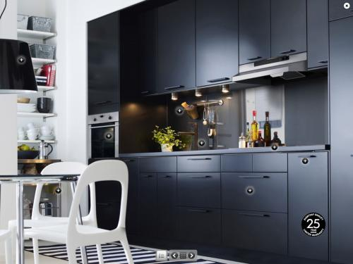 cuisine ikea noir mat. Black Bedroom Furniture Sets. Home Design Ideas