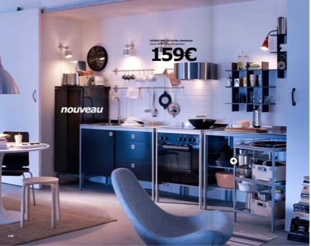 cuisine ikea udden noir. Black Bedroom Furniture Sets. Home Design Ideas