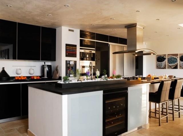 Cuisine ilot noir for Organisation cuisine