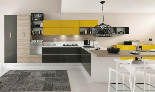 Organisation Cuisine Jaune Noir - Cuisine noir et jaune