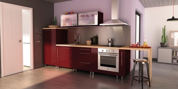 cuisine nina rouge brico depot. Black Bedroom Furniture Sets. Home Design Ideas