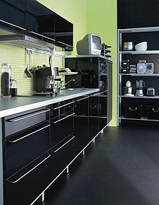 Cuisine Noir Brillant Ikea