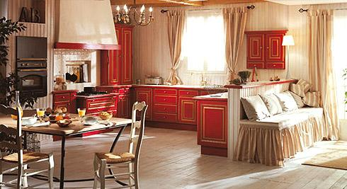 cuisine provencale rouge et jaune. Black Bedroom Furniture Sets. Home Design Ideas