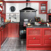 cuisine rouge ancienne