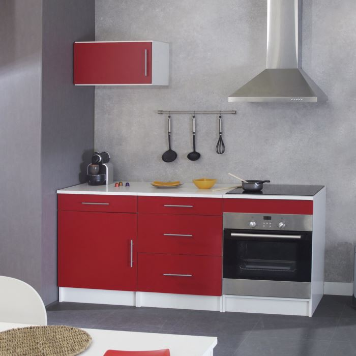 meuble de cuisine rouge photo decoration cuisine rouge. Black Bedroom Furniture Sets. Home Design Ideas