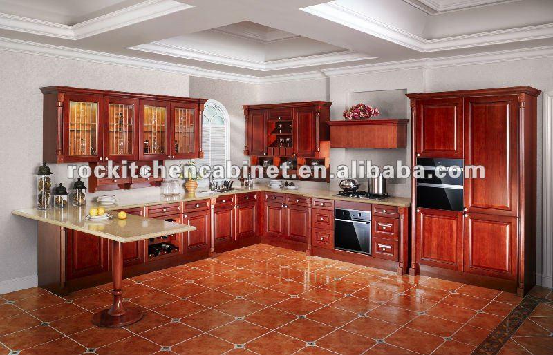 Cuisine rouge et bois - Decoration cuisine moderne rouge et blanc ...
