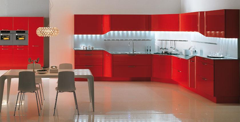 cuisine rouge ferrari. Black Bedroom Furniture Sets. Home Design Ideas